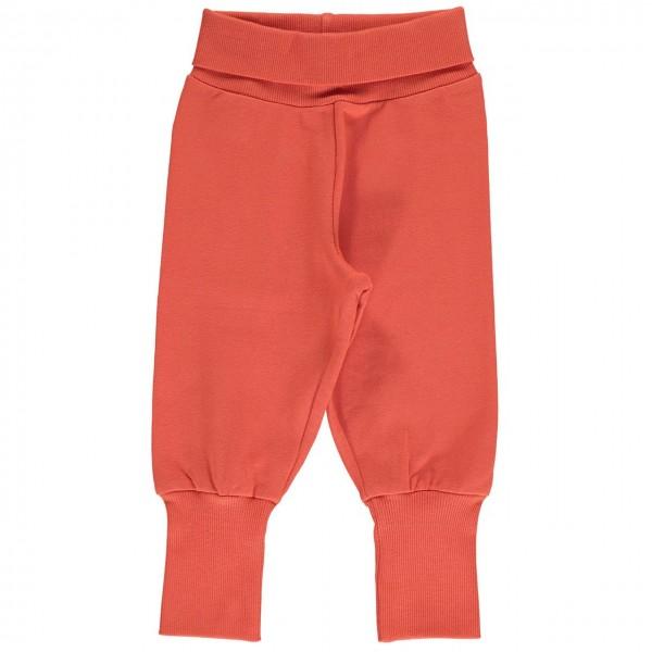 Bequeme, dickere Baby Sweathose in orange