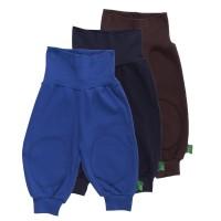 Vorschau: Bio Babyhose mit breitem Hosenbund 3er Pack