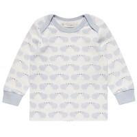 Softes Langarmshirt für Babys mit Armbündchen - pastellblau