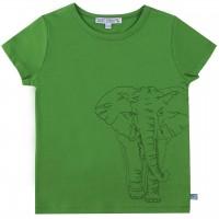 Elefant gestickt Shirt kurzarm grün