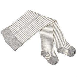 Wolle Baby Strumpfhose mit breitem Bund grau