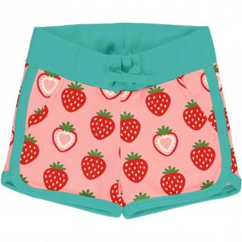 Leichte Erdbeer Jersey Shorts in rosa