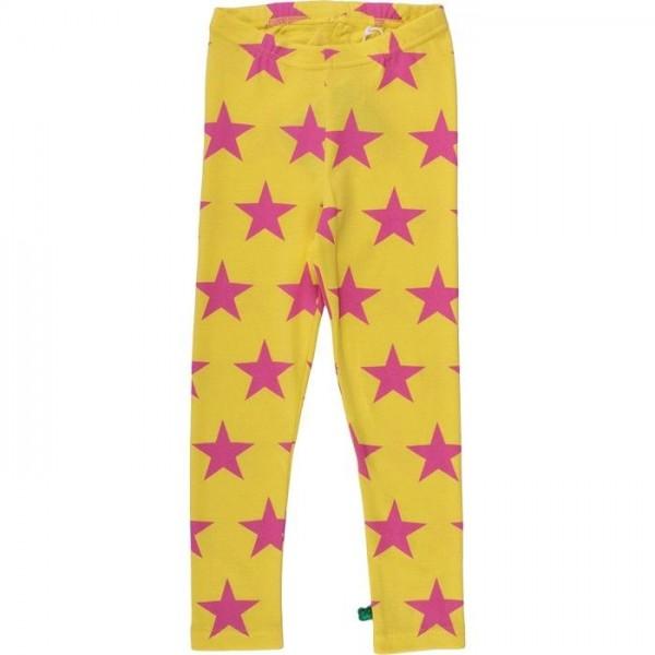 Coole Kinder Leggings Sterne gelb