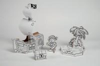 Piratenschiff Level 2 zum Stecken, malen & spielen