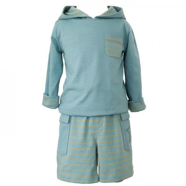 Hochwertige Jungen Shorts mit Seitentasche incl. Druckknopf