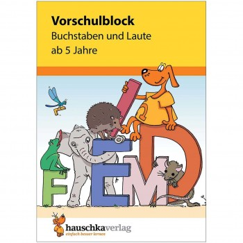 """Vorschulblock """"Buchstaben und Laute"""" ab 5 Jahre"""