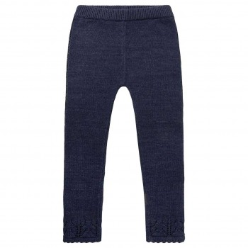 Warme Strickleggings Mädchen in navy