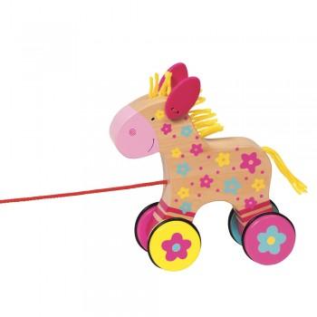 Susibelle Nachziehpferd  Clahra mit Schnur