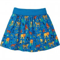 Bündchen Rock mit Shorts - 2in1 Wildkatzen