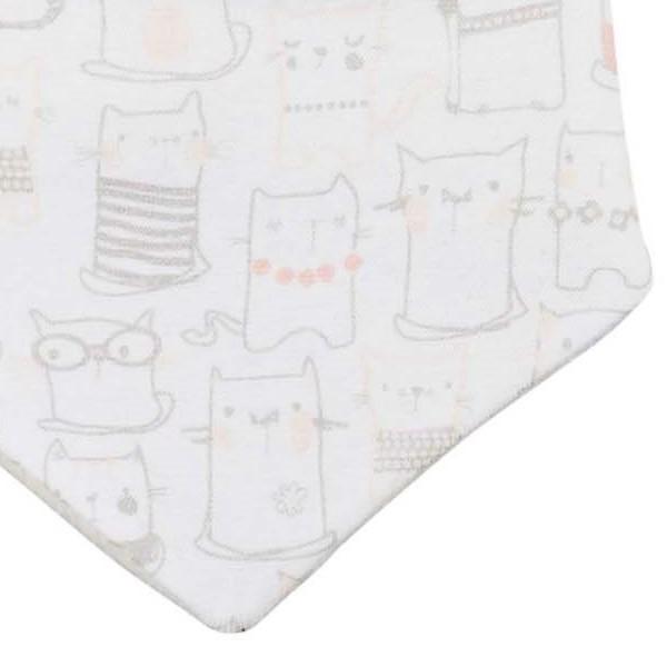 Warmes wende Bio Dreiecktuch mit Klettverschluss - Katze