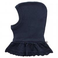 Hochwertige Baby Strickmütze mit Halsschutz