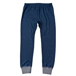Leggings Wolle Seide blau gestreift