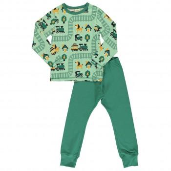 Oldtown Schlafanzug langarm in hellgrün