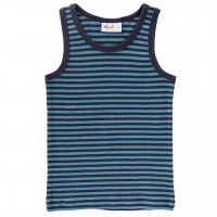 Unterhemd dunkelblau geringelt