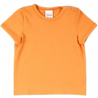 Shirt kurzarm Basic in hellem orange
