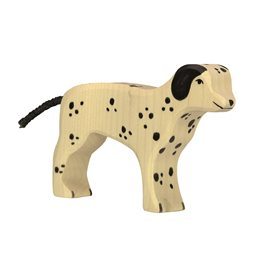 Holzfigur Dalmatiner Hund - auf dem Bauernhof