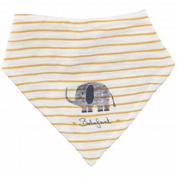 Leichtes Wende Dreiecktuch Elefant senfgelb
