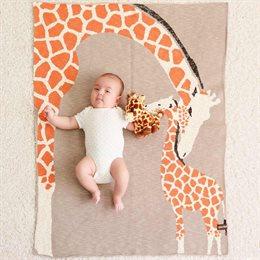 Bio Babydecke Giraffenliebe