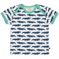 Kurzarm Shirt Krokodile dunkelblau/hell