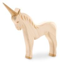 Einhorn Figur Holzfigur 13,5 cm