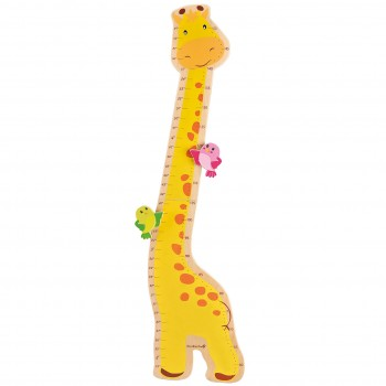 Messlatte aus Holz - Giraffe