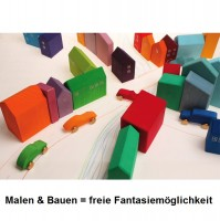 Vorschau: Spielwelt z.B. Eisenbahn Häuser 14 Teile