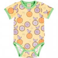Leichter Body kurzarm Orangen in gelb