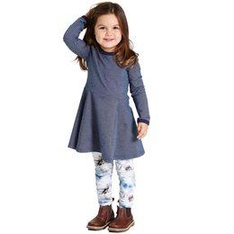 Jeans Kleid langarm elastisch