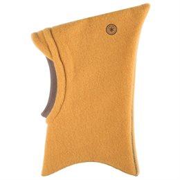 Schlupfmütze mit Schirm und Schal honig