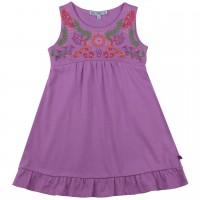 Kleid Blumen-Stickerei lavendel