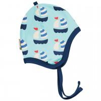 Babymütze leicht mit Ohrenschutz Segelboote