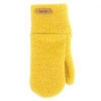 Lemon-gelbe Kinder Handschuhe Wolle