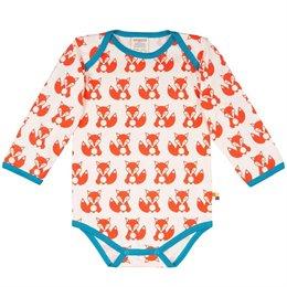 Bio Langarmbody Fuchs orange