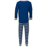 Vorschau: Kuscheliger Schlafanzug Interlock mit Dachs blau