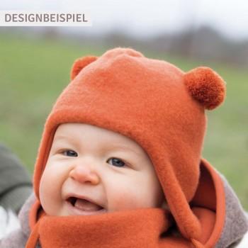 Warme Bommel Wintermütze Fleece Baumwolle