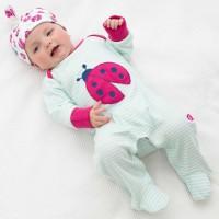 Babystrampler mit Fuss super kuschlig soft