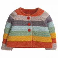 Strickjacke im Regenbogen-Design