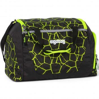 Kinder Sporttasche 20 Liter gelb Muster fluoreszierend
