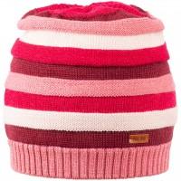 Kinder Strick Wintermütze himbeer-pink