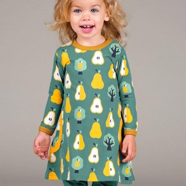 Kleid mit Taschen langarm elastisch mit Birnen