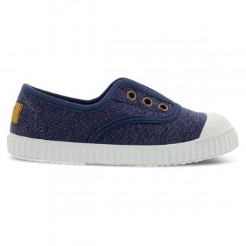 Blaue Canvas Sneaker mit Naturkautschuk-Sohlen