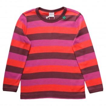 Langarmshirt gestreift in pink-lila