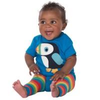 Vorschau: Bio Strickleggings für Babys mit Po Motiv Papagei