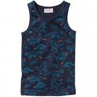 Weiches Unterhemd Dinosaurier dunkelblau
