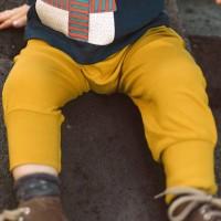 Bündchen  Babyhose  uni  senf-gelb