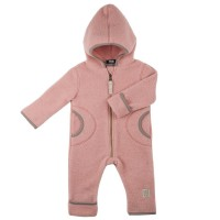Fleece Overall Wolle in altrosa