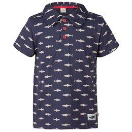 Cooles BIO Polo Shirt für Jungen frugi - Hai