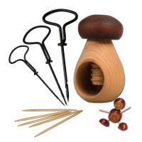 Kastanien Pilz und Bohrer - Set
