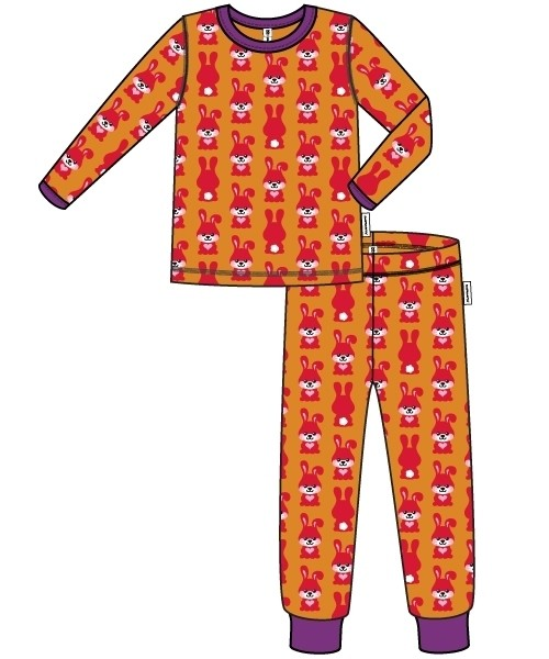Ganzjährig Hasen Schlafanzug langarm