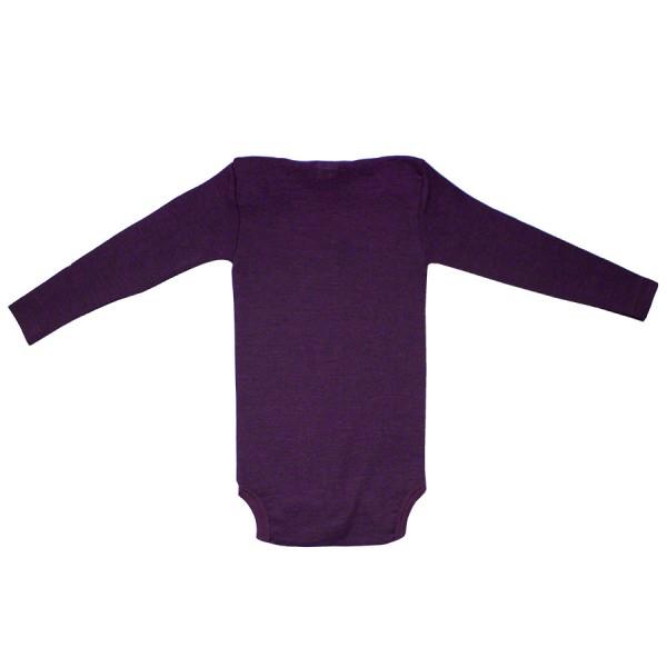 Wolle Seide atmungsaktiver Body Wolle Seide lila